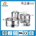 7pcs Kitcehn articles ensembles de casseroles en acier inoxydable