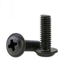 Black Oxide M2 M2.5 M3 M4 PWM Phillips Pan Washer Head Machine Screws With Collar