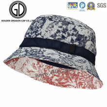 Good Quality Microfiber Red and Blue Graffiti Bucket Hat