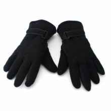 Red Embroidery Fleece Gloves