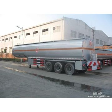 Almunium Alloy Mobile Fuel Tank Semi Trailer