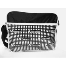 Black And White Pvc Shoulder Sports Bag For Outside / Gym