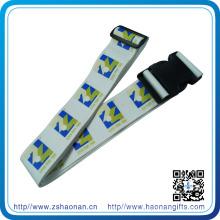 China Wholesale Faça Impresso com Cinto de Bagagem Ajustável de Plástico para Promocional
