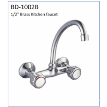 Bd1002b Double Handle Brass Kitchen Faucet