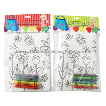 DIY kids painting craft tote bag, hand bag, non woven bag