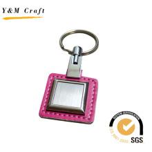 Leder Parsel mit Metallplatte Schlüsselbund (Y02113)