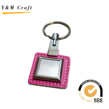 Leather Parsel with Metal panel keychain (Y02113)