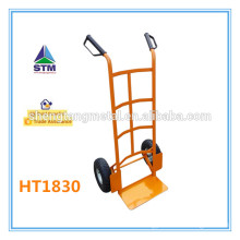 Airport luggage trolley with air wheel