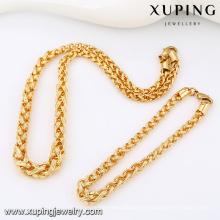 63813-Xuping Alibaba Nuevo Trendy Copper Gold Men Chain Jewelry Set