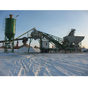 Volumetric Transit Mix Concrete Batching Plant Portable
