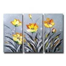 Arte da parede Pintura a óleo vermelha da flor para o Deocr Home