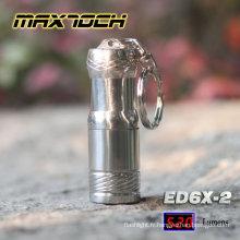 Maxtoch ED6X-2 T6 polissage conduit mignon porte-clés lampe de poche