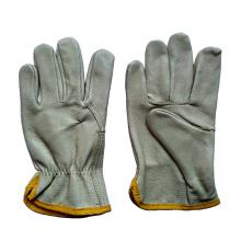 Schwein Korn Leder Arbeitssicherheit Fahrer Handschuhe für das Fahren
