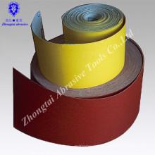 Rouleau de papier de feuille de papier abrasif d'oxyde d'aluminium