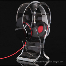 Elegant Design Clear Acrylic Headset Stand Holder