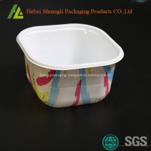 Square colorful plastic food storage boxes