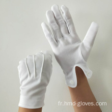 Gants blancs en nylon de parade
