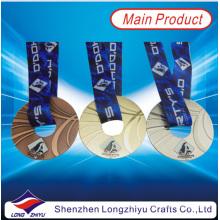 Medalla de forma redonda de Donuts Medalla de metal personalizada