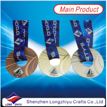 Round Donuts Shape Medal Customized Metal Medal