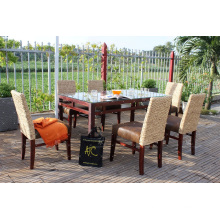 Classy Natural Water Hyacinth Coffee and Dining Set For Indoor Use