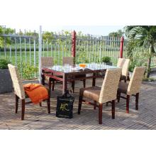 Café e conjunto de jantar de jacinto de água natural elegante para uso interno