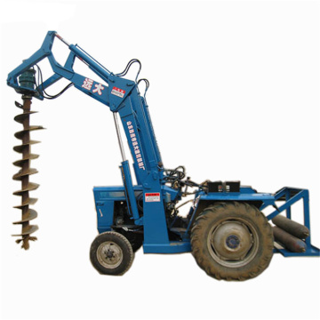 Tractor pole piling machine/augur drill
