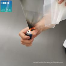 OLEG high level lucite material fireproof pmma heat resistant flame retardant acrylic sheet
