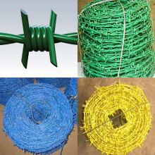PVC COATED COLORED BARBED STEEL WIRE