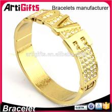 Pulsera de oro de las señoras modelos pulsera de amor de metal