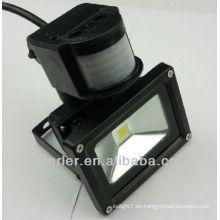 IP65 50w led sensor de movimiento luz de inundación negro / plata