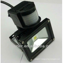 IP65 50w led motion sensor flood light black/silver