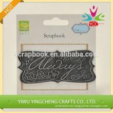 2016 moda Navidad alibaba china proveedor metal pegatinas personalizadas 3m para scrapbooking