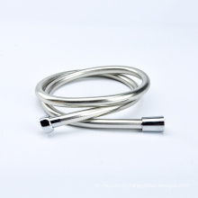 Bathroom Anti-Kink Replacement Smooth Silver Shower Stainless Steel Hose with Brass Coupler 1.2m
