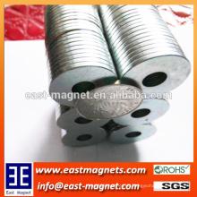Ring Typ kleine Zink beschichtete Neodym-Magnet mit Loch zum Verkauf