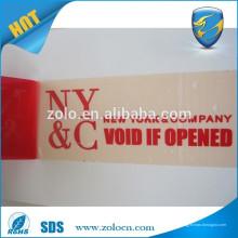 Печать нестандартного размера открыта VOID Письмо, если удалено Двусторонняя защитная клейкая лента