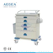 АГ-AT020 цена на аварийно вагонетка больницы тележки с двумя перекрестными тормозами