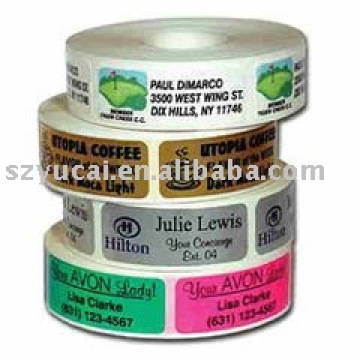 adhesive waterproof stickers in roll