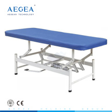 AG-ECC08 Stainless Steel waterproof PU mattress clinic examination couch hydraulic treatment table