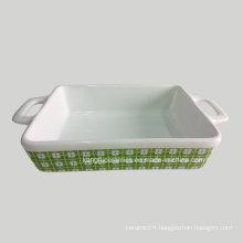 Simple White Color Glaze Ceramic Bakeware