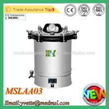 MSLAA03M 2016 New Arrival !!! Stérilisateur haute pression Stérilisateur à vapeur à pression portative en acier inoxydable
