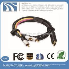 Kuyia marca 3RCA a HDMI cable macho a macho cable de vídeo componente de audio convertir