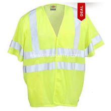 Yellow Short Sleeve High Visibility Vest