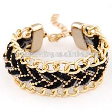 Bracelete feito à mão bracelete pulseira preta
