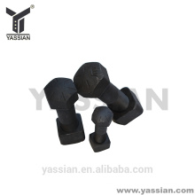 China Hot selling excavator stainless steel 8.8 plow bolt with nut