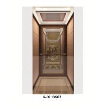 Villa Ascensor con espejo acabado de acero inoxidable (KJX-BS07)