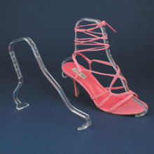 Slanted Retail Shop Acrylic Shoe Display Stand
