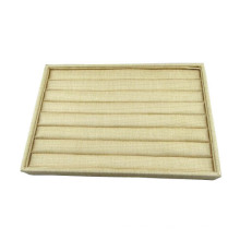 Bege Linen Ring Foam Display Tray Wholesale (TY-R8P-BL)