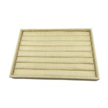 Beige Linen Ring Foam Display Tray Wholesale (TY-R8P-BL)