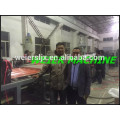 NEW MACHINE TEST OF PVC corrugated tiles production line