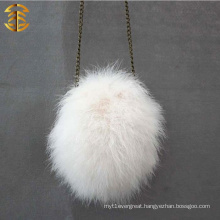 New Style Girls Luxury Evening Fur Bags White Turkey Fur Bag
